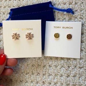 Tory Burch Kira Pave stud earrings